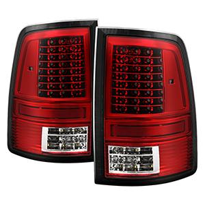 Fits 09-18 Dodge Ram 1500 10-18 2500 3500 Black LED Tail lights+3rd Brake Light