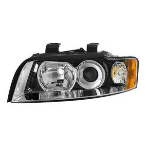 Fits 2010-2013 Altima Coupe Black Left Side Halogen Type Projector Headlight